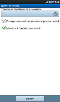 Samsung P1000 Galaxy Tab - E-mail - Configuration manuelle - Étape 10