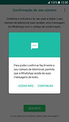 Samsung Galaxy A3 (2017) - Aplicações - Como configurar o WhatsApp -  11