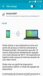 Samsung Galaxy A5 - Internet no telemóvel - Como partilhar os dados móveis -  6