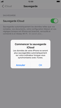 Apple Apple iPhone 6s Plus - iOS 11 - Device maintenance - Back up - Étape 12