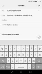 Huawei P9 Lite - E-mail - Escribir y enviar un correo electrónico - Paso 9