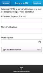 BlackBerry Z10 - Internet - Configuration manuelle - Étape 10