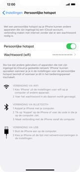 Apple iphone-11-model-a2221 - WiFi - Mobiele hotspot instellen - Stap 8