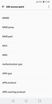 LG V30 - MMS - Manual configuration - Step 10