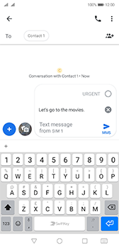 Huawei P20 Android Pie - MMS - Sending a picture message - Step 9