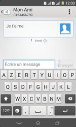 Sony Xpéria E1 Dual - Contact, Appels, SMS/MMS - Envoyer un SMS - Étape 9