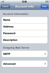 Apple iPhone 4 - Email - Manual configuration - Step 12