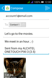 Alcatel Pixi 3 - 3.5 - Email - Sending an email message - Step 17