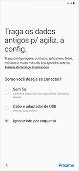 Samsung Galaxy A50 - Primeiros passos - Como ativar seu aparelho - Etapa 9