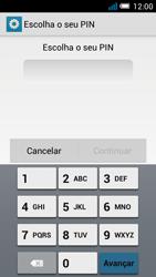 Alcatel POP C7 - Segurança - Como ativar o código de bloqueio do ecrã -  7