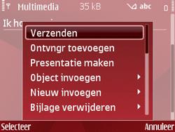 Nokia E63 - MMS - Afbeeldingen verzenden - Stap 13