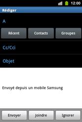 Samsung S5830i Galaxy Ace i - E-mail - envoyer un e-mail - Étape 4