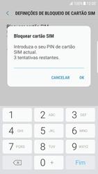 Samsung Galaxy S6 Edge - Android Nougat - Segurança - Como ativar o código PIN do cartão de telemóvel -  8
