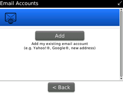 BlackBerry 9300 Curve 3G - Email - Manual configuration - Step 13