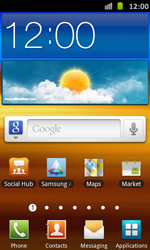 Samsung I9070 Galaxy S Advance - Internet - Popular sites - Step 1