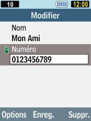 Samsung C3590 - Contact, Appels, SMS/MMS - Ajouter un contact - Étape 7