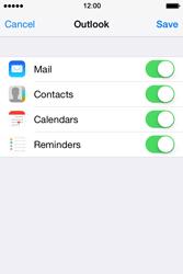 Apple iPhone 4 S iOS 7 - E-mail - Manual configuration (outlook) - Step 8