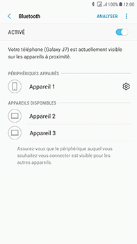 Samsung J730F Galaxy J7 (2017) (DualSIM) - Bluetooth - connexion Bluetooth - Étape 11