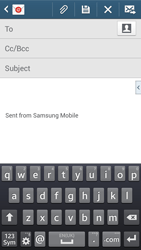 Samsung Galaxy Core LTE - Email - Sending an email message - Step 5