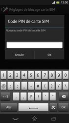 Sony Xpéria SP - Sécuriser votre mobile - Personnaliser le code PIN de votre carte SIM - Étape 8