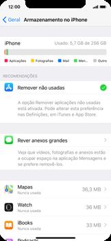 Apple iPhone X - Gestão de espaço - Como gestão automática de aplicações não utilizadas -  6
