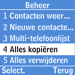 Samsung GT-E1200i - Contacten en data - Contacten kopiëren van toestel naar SIM - Stap 5