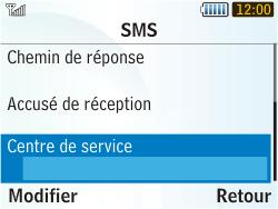 Samsung S3350 Chat 335 - SMS - Configuration manuelle - Étape 6