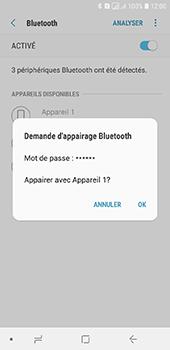 Samsung Galaxy A6 - Internet et connexion - Connexion avec un équipement multimédia via Bluetooth - Étape 9