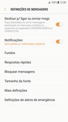 Samsung Galaxy S7 - Android Nougat - SMS - Como configurar o centro de mensagens -  6
