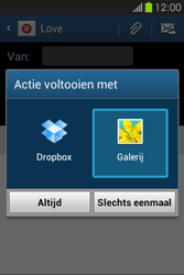 Samsung S6810P Galaxy Fame - E-mail - E-mails verzenden - Stap 13