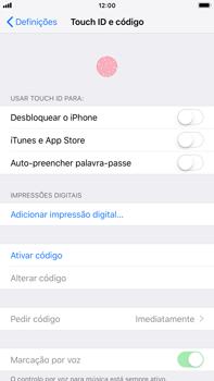 Apple iPhone 7 Plus - iOS 12 - Segurança - Como ativar o código de bloqueio do ecrã -  4