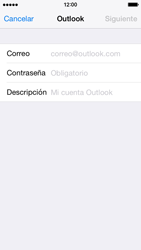 Apple iPhone 6 iOS 8 - E-mail - Configurar Outlook.com - Paso 6