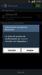 Samsung Galaxy S4 - Bluetooth - Conectar dispositivos a través de Bluetooth - Paso 7