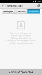 Huawei G620s - Chamadas - Como bloquear chamadas de um número -  6