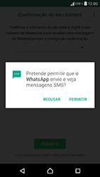 Sony Xperia XA (F3111) - Aplicações - Como configurar o WhatsApp -  12