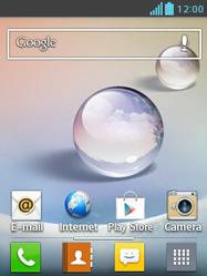 LG E430 Optimus L3 II - E-mail - e-mail instellen: IMAP (aanbevolen) - Stap 1