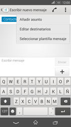 Sony Xperia E4g - Mensajería - Escribir y enviar un mensaje multimedia - Paso 8