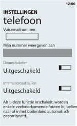 HTC C110e Radar - Voicemail - handmatig instellen - Stap 6