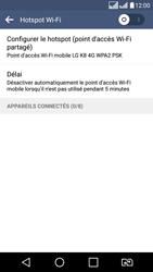 LG LG K8 - Internet et connexion - Partager votre connexion en Wi-Fi - Étape 6