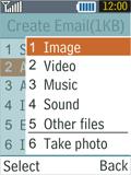 Samsung B2100 Xplorer - E-mail - Sending emails - Step 13