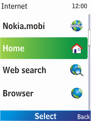 Nokia X2-00 - Internet - Internet browsing - Step 3