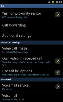 Samsung N7000 Galaxy Note - Voicemail - Manual configuration - Step 5