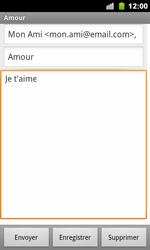 Google Nexus S - E-mail - Envoi d
