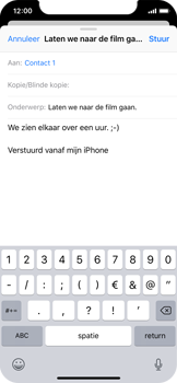 Apple iPhone X - iOS 12 - E-mail - e-mail versturen - Stap 7