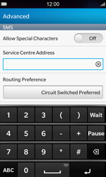 BlackBerry Z10 - SMS - Manual configuration - Step 8