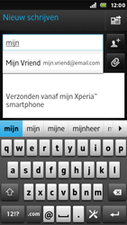 Sony ST25i Xperia U - E-mail - hoe te versturen - Stap 6