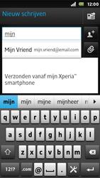 Sony ST25i Xperia U - E-mail - E-mails verzenden - Stap 6