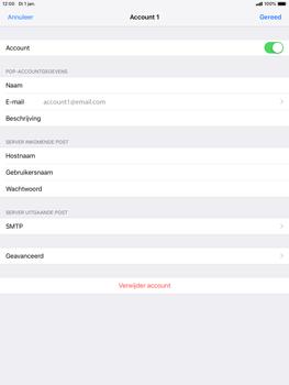 Apple ipad-mini-5-7-9-inch-2019-model-a2124 - E-mail - Account instellen (POP3 zonder SMTP-verificatie) - Stap 24