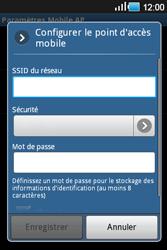 Samsung Galaxy Ace - Internet et connexion - Partager votre connexion en Wi-Fi - Étape 8