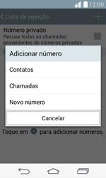 LG D390n F60 - Chamadas - Como bloquear chamadas de um número específico - Etapa 9